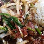 Mongolian beef and rice