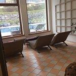 Einer von 4 Räumen mit Relaxliegem zum entspannen.