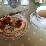 Home baked scones and tea