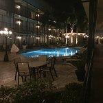 The pool is very clean and beautiful at night also. The hot tub awesome!