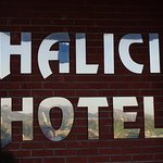 Logomarca do hotel.