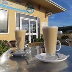 Large Latte at Sands.