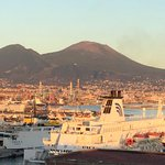 The Port with Vesuvius in the background
