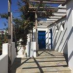 terrasse d'accès aux chambres