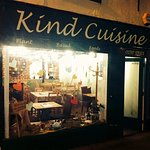 Kind Cuisine Frontage at 11a Friars Street in Sudbury, Suffolk. Plant based foods for all to enj