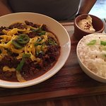 Chilli & rice with sour cream