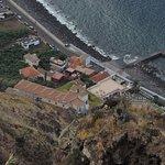 Zoom-in of the town below - Paul do Mar