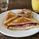 Ham & Brie sandwich.