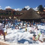 foam party in the bar/adults pool