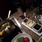 sauces: plum,teriyaki, curry,green goddess, roquefort