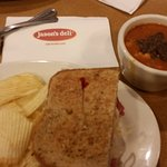 Manager's Special. ..1/2 sandwich and soup. The Reuben with tortilla soup...do good