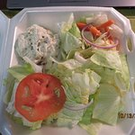 """The """"chef salad"""" with chicken salad"""