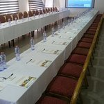 Our newly refurbished conference hall and swimming pool