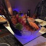 Beautiful presentation of sushi