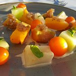 Course #2...heirloom tomato and melon salad