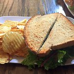 Chickin Salad Sandwich with chips