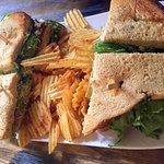 Club Sandwich cut into Quarters