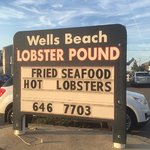 Sign outside the Lobster Pound