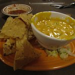 queso dip with green chiles - YUCK