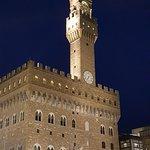 Night view of the Palazzo Vecchio
