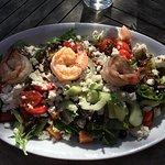 Quinoa Salad (one shrimp eaten)