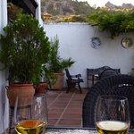 Welcome drink on the terrace of La Mejorana