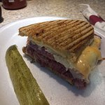 Plenty to share, this is half of the Famous Rueben; added extra Russian Dressing