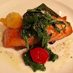 Seared Salmon Special with Spinach Soufflé