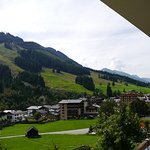 View from balcony over to Saalbach