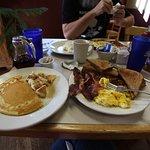 Her GREAT breakfast!
