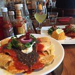 Our meals....Nachos and Garlic Prawns