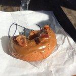 the BAM doughnut (bacon, apple, maple) - DELICIOUS!