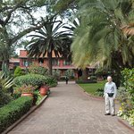 This is the central courtyard which is a quiet oasis in bustling Nairobi