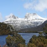 The Park is very handy to locations such as this - Dove Lake with Cradle Mountain in the backgro