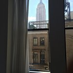 View of Empire State from our bed.