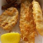 too much - leftover fish and fritter