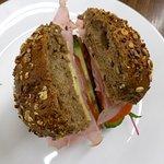 Ham and salad roll