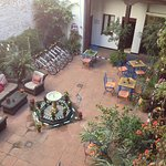 This is the lovely courtyard.