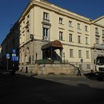 The front entry to Hotel. The Warsaw University is at the back on the main street that goes to t