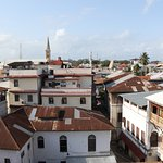 View of Stonetown from the rooftop terrace