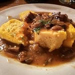 polenta with mushrooms (vegetarian)