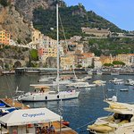 Moored at Coppola pontoon in Amalfi.