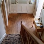 Stairs down to entrance hall
