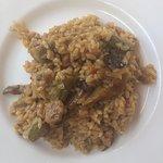 El arroz en el plato