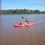 Kayak en el río Uruguay