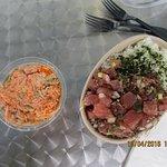 Ahi Poke and Spicy Crab Salad.