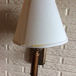 Old damaged lampshade.