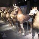 chevaux d'époque Han trouvés dans des tombes du Sichuan