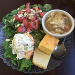 Spinach & Strawberry Salad, Tortilla Soup and Curry Pineapple Chicken Salad