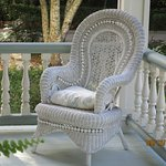 wicker porch furniture at John Denham House